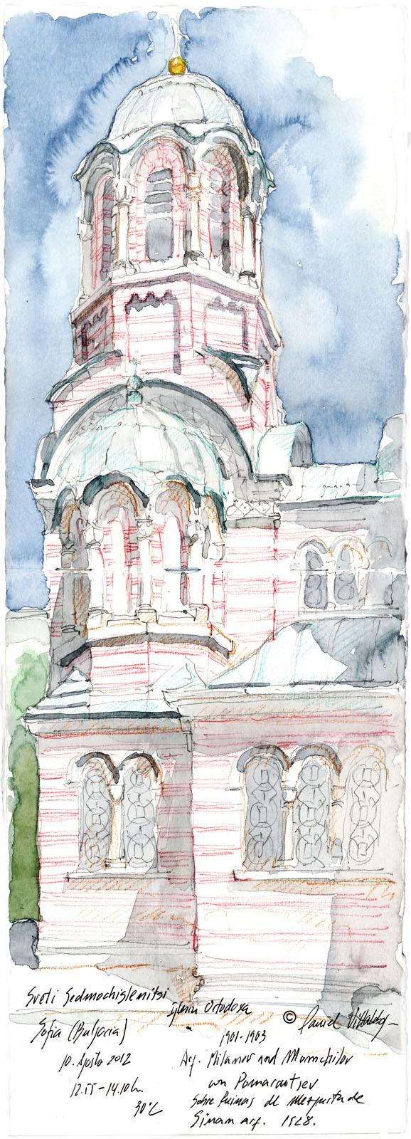 #danielvillalobos #sketch #sketchbook #skechtravel #sofia #svetisedmochislenitsi