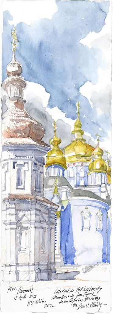 #danielvillalobos #sketch #sketchbook #skechtravel #ukraine #kiev #mikhailovsky