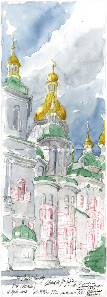 #danielvillalobos #sketch #sketchbook #skechtravel #ukraine #kiev #sta.sofia